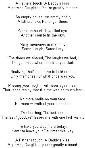 It is so true and these words are so precious. I remember the last time I seen you and told you my last good bye to you. Now I have a child that you have never seen in flesh. It would have been nicer for you to stay longer to see him, to play, to love him. U will always be here in spirit but, it is not the same. Love Shey P.S. I hope I never have to say these words