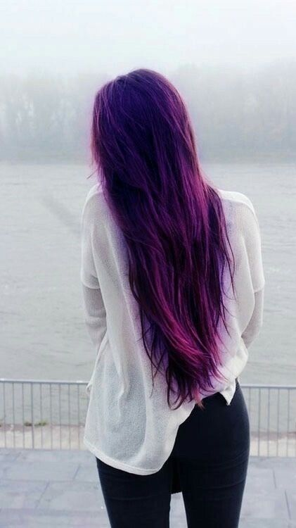 Gorgeous long purple hair