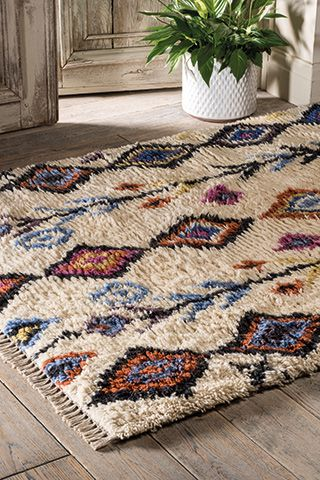 Tarfaya hand woven shaggy rug 90 x 150cm > Rugs > Home Furnishings > Namaste Fair Trade > Namaste-UK Ltd