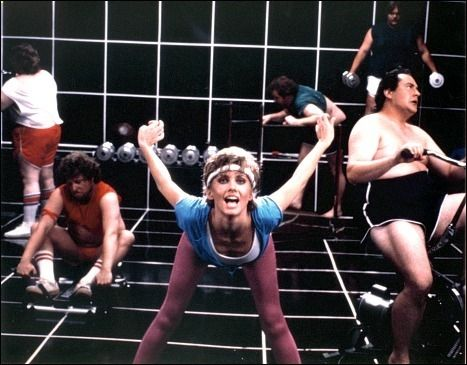 Olivia Newton John's Let's Get Physical music video was an explosion of workout tights and tube socks