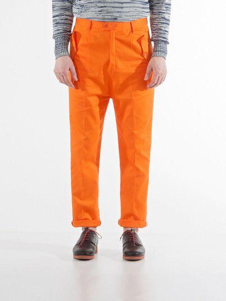 Camo Trousers | Orange Twill