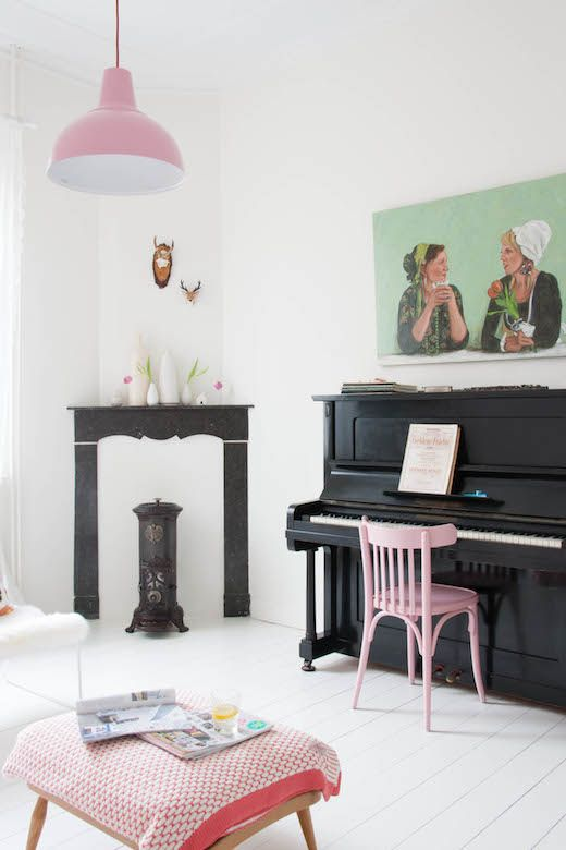A whimsical floral and pastel home in Belgium. Holly Marder.