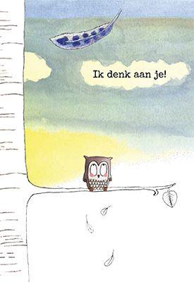 Morgenster wenskaart 'Denk aan je', ontworpen voor de wenskaarten serie Family & Friends van uitgeverij Ark Media