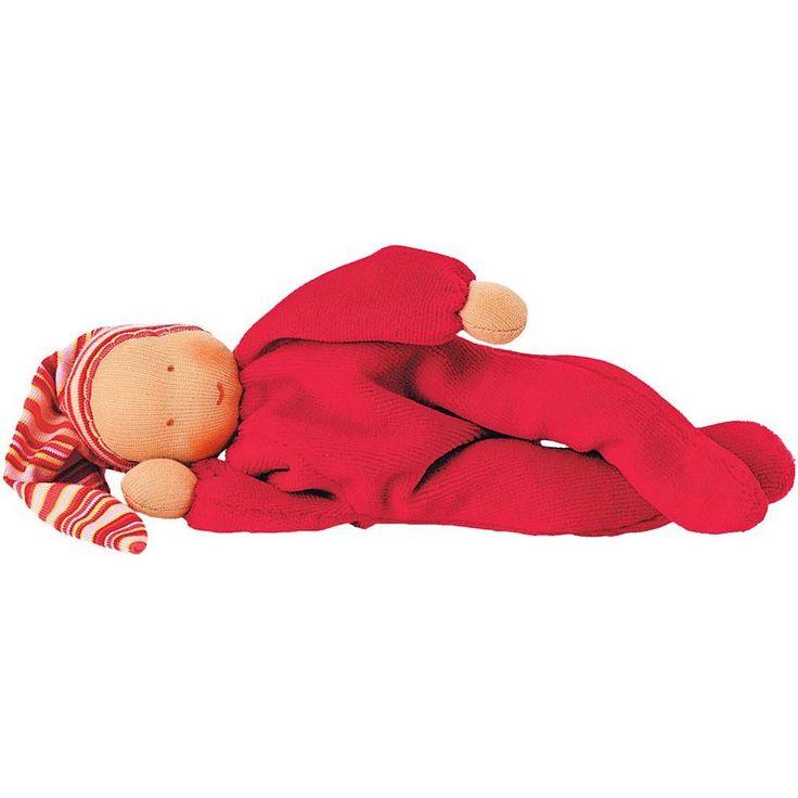 Nicki Baby Waldorf Doll - Red