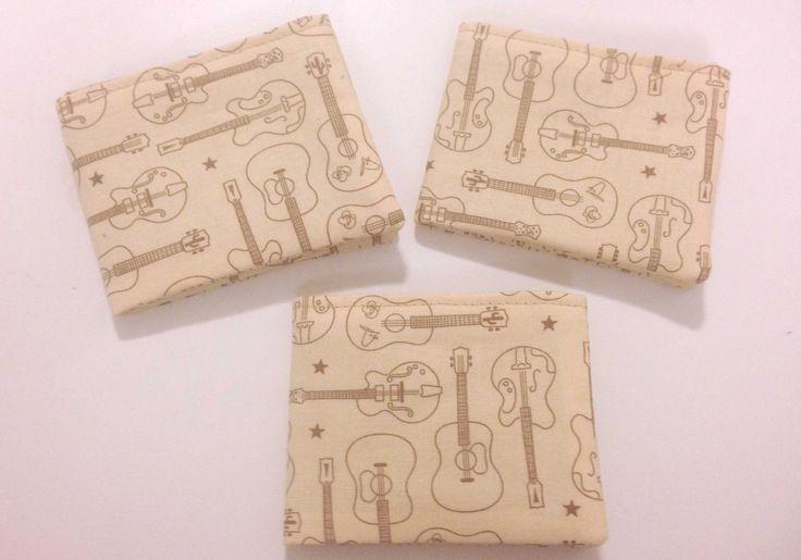 Electric Acoustic Guitar Boys Unisex Girls Bi Fold Wallet with Velcro by BethsCakeKitShop on Etsy