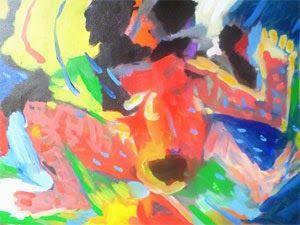 Bila pagi tak kunjung datang, 50 x 70 cm, akrilik on  kanvas, 2014. ARTI SUGIARTI