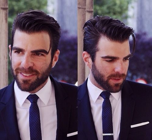 Who doesn't love a gentleman with a beard ?! Especially if it's Zachary Quinto! ♥