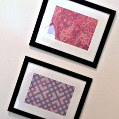 framed scrapbook papers in season color using dollar store frames