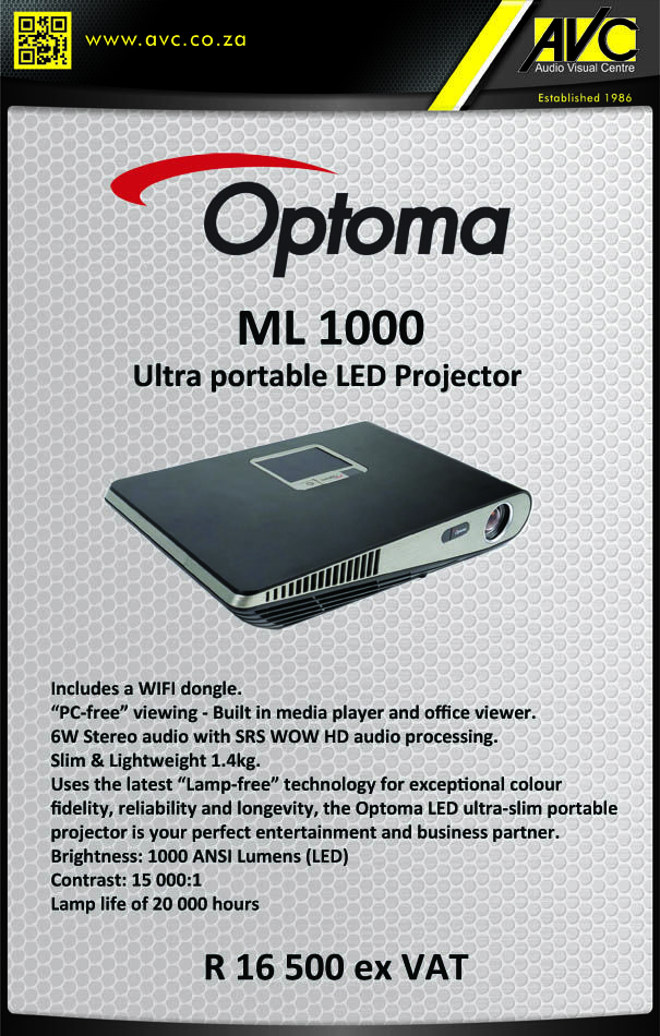Optoma's New ML 1000 Portable Projector