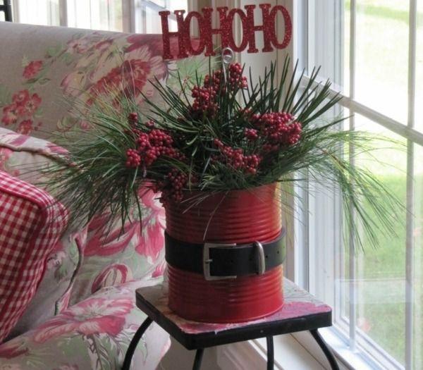 Blumentopf kreativ verstecken Santa Klaus