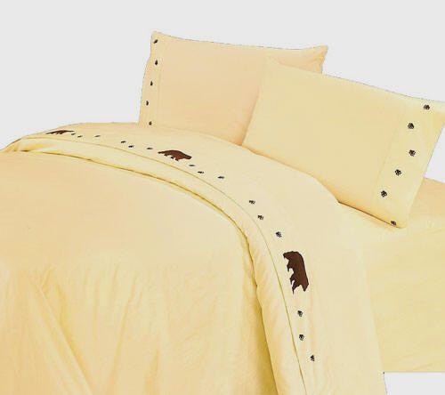Bears Rustic Sheets - Cream Sheet Sets - 350 Thread Count