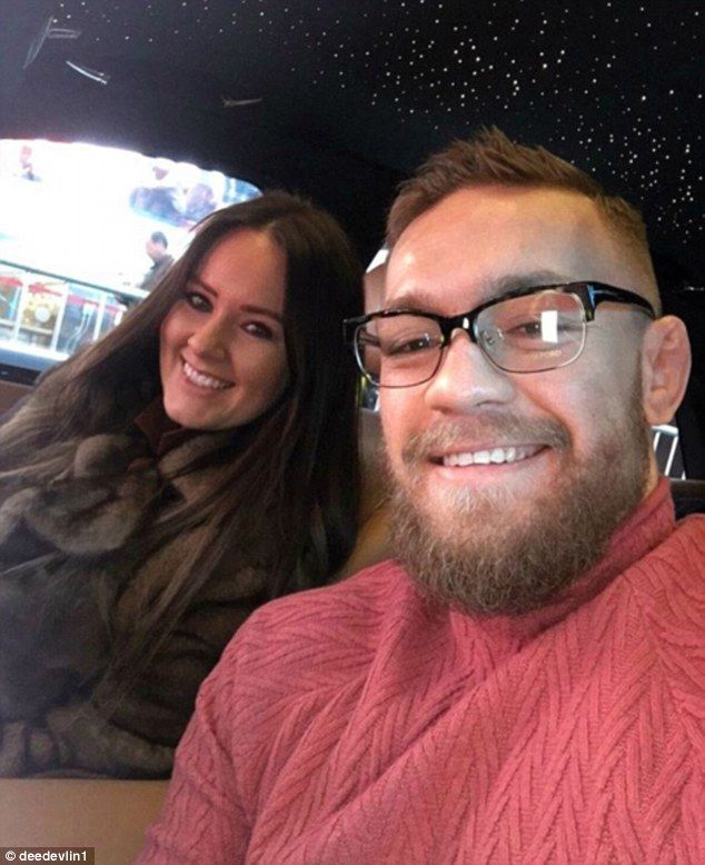 Conor McGregor took a selfie with pregnant girlfriend Dee Devlin on Tuesday morning...
