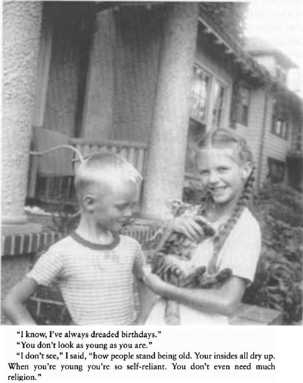 6 year-old sylvia plath with her brother & extract from a plath's journal entry dated 22 July 1953.