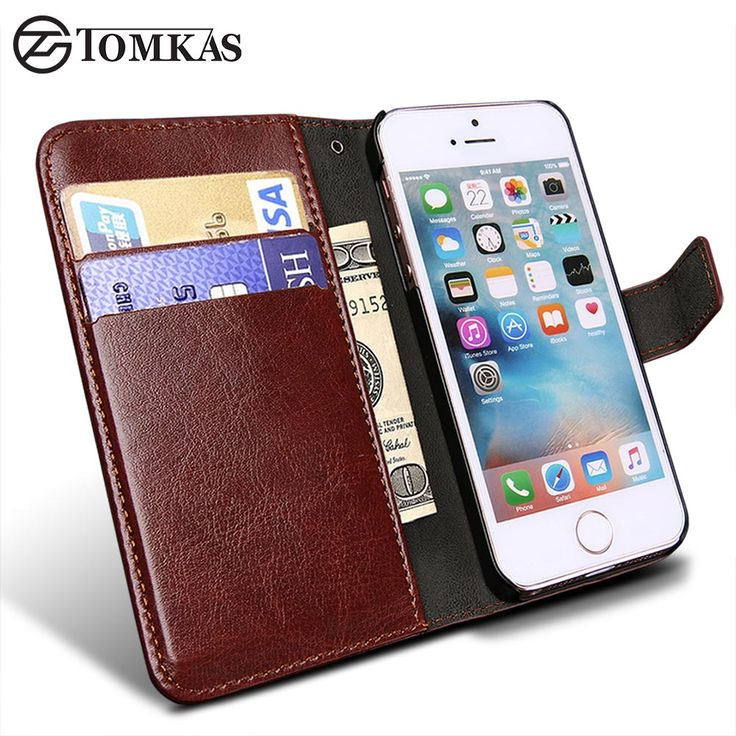 Wallet Leather Case for Apple iPhone 5S 5 SE Luxury Flip Coque Phone Bag Cover For iPhone 5s Cases Fundas TOMKAS Brand //Price: $10.98 & FREE Shipping //     #GAMES