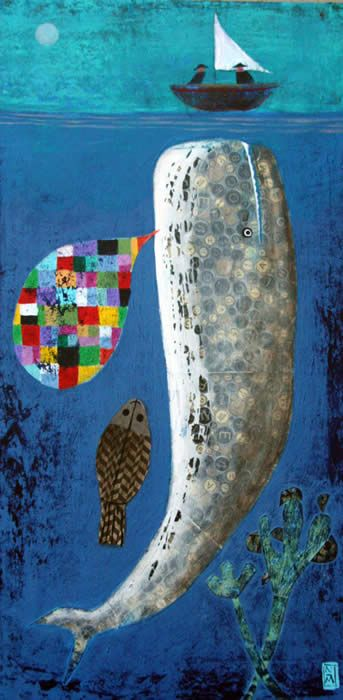 language of whale by Nathaniel Mather: Art Illustrations, Animal Art, Beautiful Random, Mather Whales, Boats, Nathaniel Mather, Mather Ii, Rooms Plants, Art Rooms