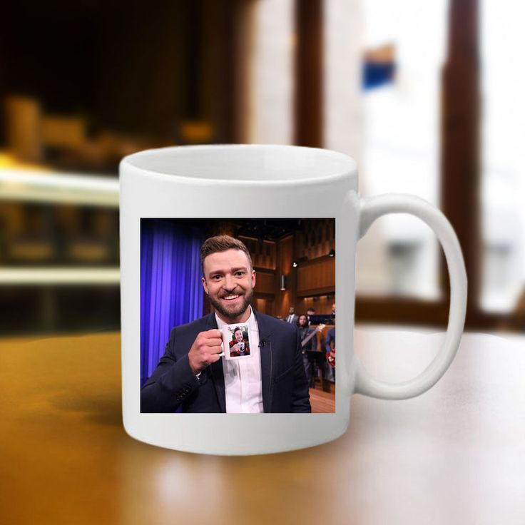 Jimmy Fallon & Justin Timberlake 1 Mugs Custom White Ceramic 11oz Gift Mug #Handmade