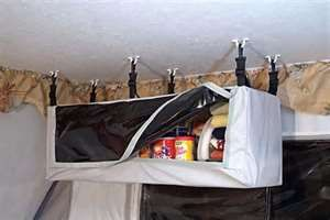 Pop Up Trailer Storage: Hanging Pantries and Hanging Storage for ...