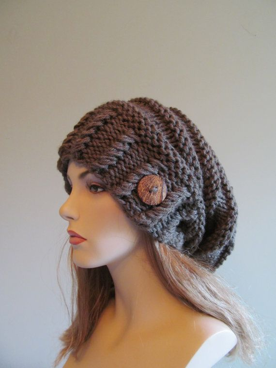 Slouchy Beanie Slouch Wool Hats Oversized Baggy Beret by Lacywork