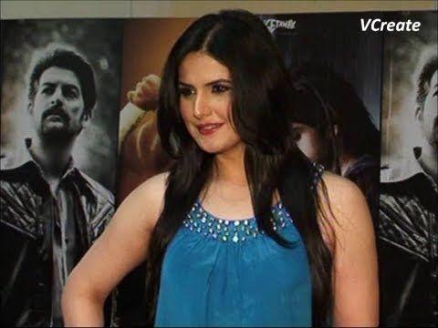 Zarine Khan looking BEAUTIFUL in blue dress at premiere of the movie DAVID.