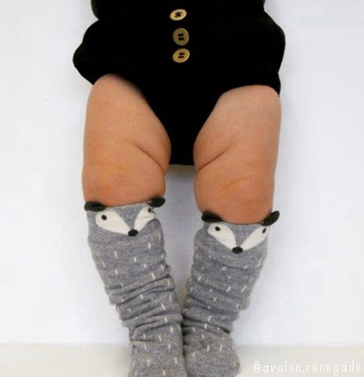 Raccoon Knee Socks by a Korean brand Minidressing