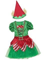 Christmas Miss Elf Fancy Dress Costume