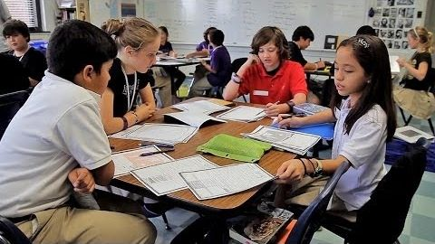 Middle school students learn social studies through Historia, a paper-based simulation game that incorporates a world cultures curriculum aligned to state standards.