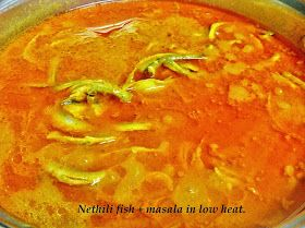 Susi's Wok: Nethili (Anchovies) Fish kulambu