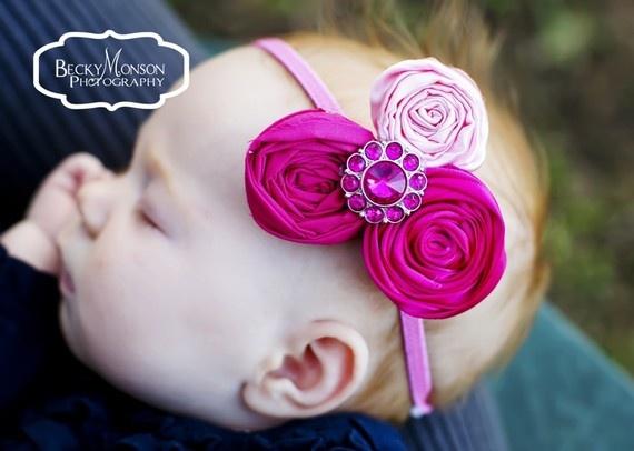 The Whitney Rosettes headband