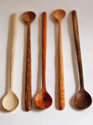 cucharas de madera.