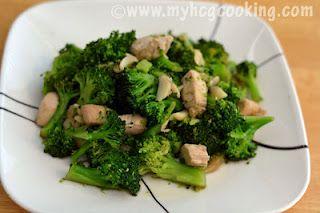 HCG Diet Phase 2 Garlic Broccoli Chicken Stir Fry