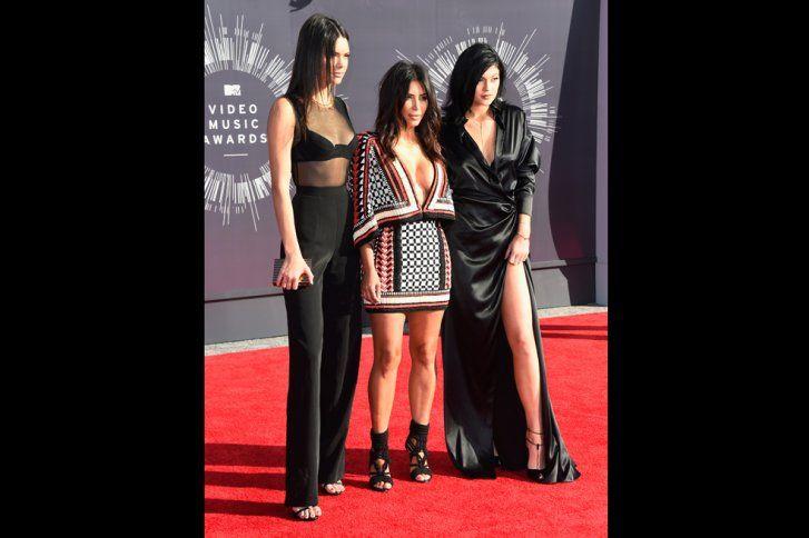 Kendall Jenner, Kim Kardashian y Kylie Jenner.