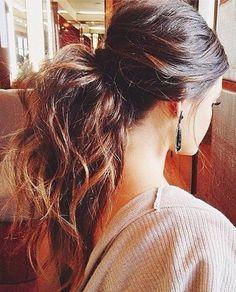 A voluminous messy ponytail<3