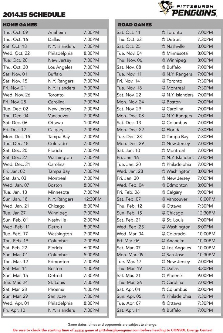 Penguins to Host the Anaheim Ducks in the 2014-15 Regular-Season Opener Thursday, October 9 at CONSOL Energy Center - Pittsburgh Penguins - News