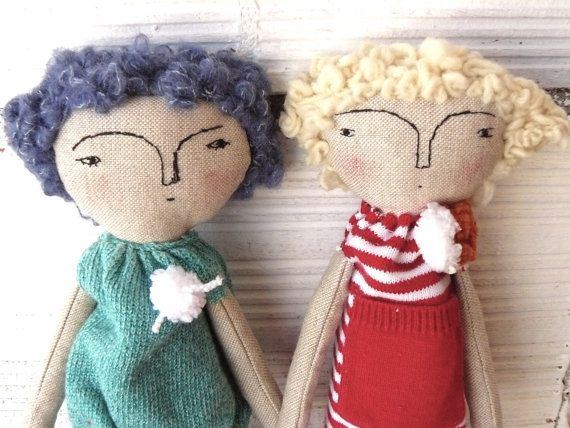 "rosanne bar and phylis diller doncha think? cloth doll 19"" on etsy by AntonAntonThings  simple for child to make clothes for"