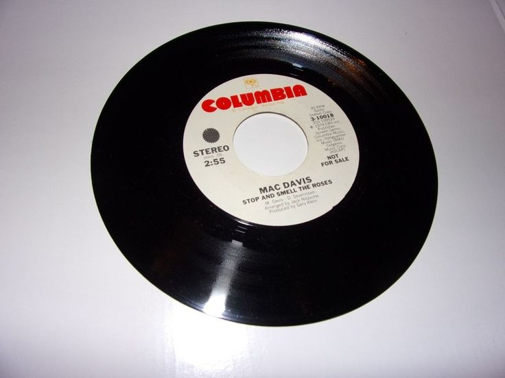 Mac Davis: Stop And Smell The Roses / 45 Rpm / Promo / 1974/ NM
