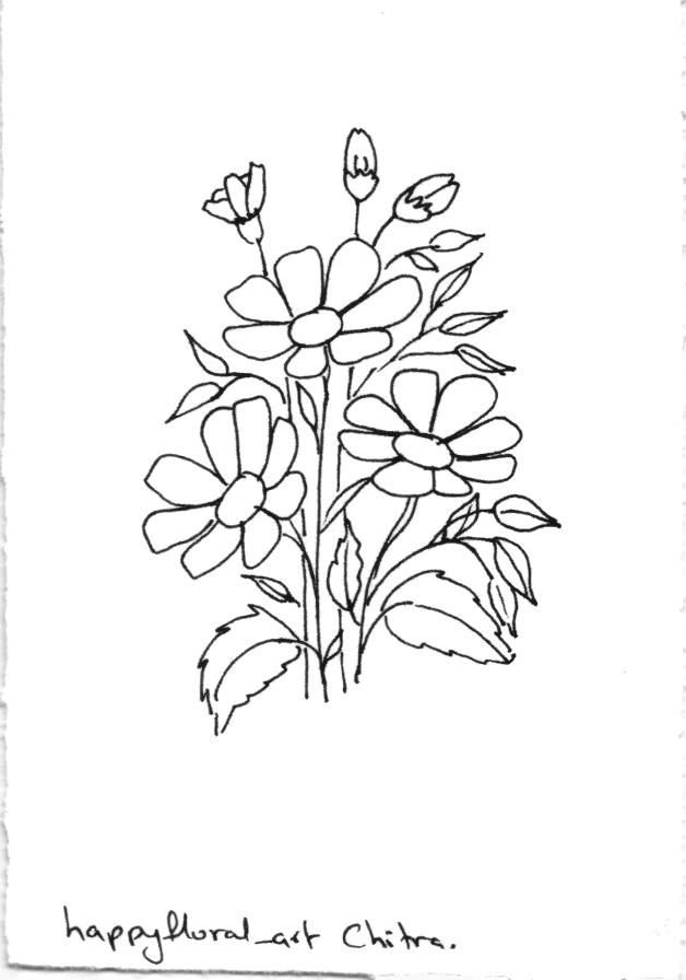 Free Coloring Page Line Art Flowers Download And Start Coloring Line Art Flowers Line Art Flower Art