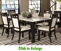 Gateway White 7 Piece Dining Set By Standard At Furniture Warehouse