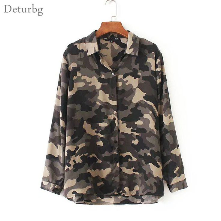 >> Click to Buy << Womens New Fashion Camouflage Printed Blouse Ladies Casual Long Sleeve Cotton Blends Loose Shirts Tops Blusas 2017 Autumn Br375 #Affiliate