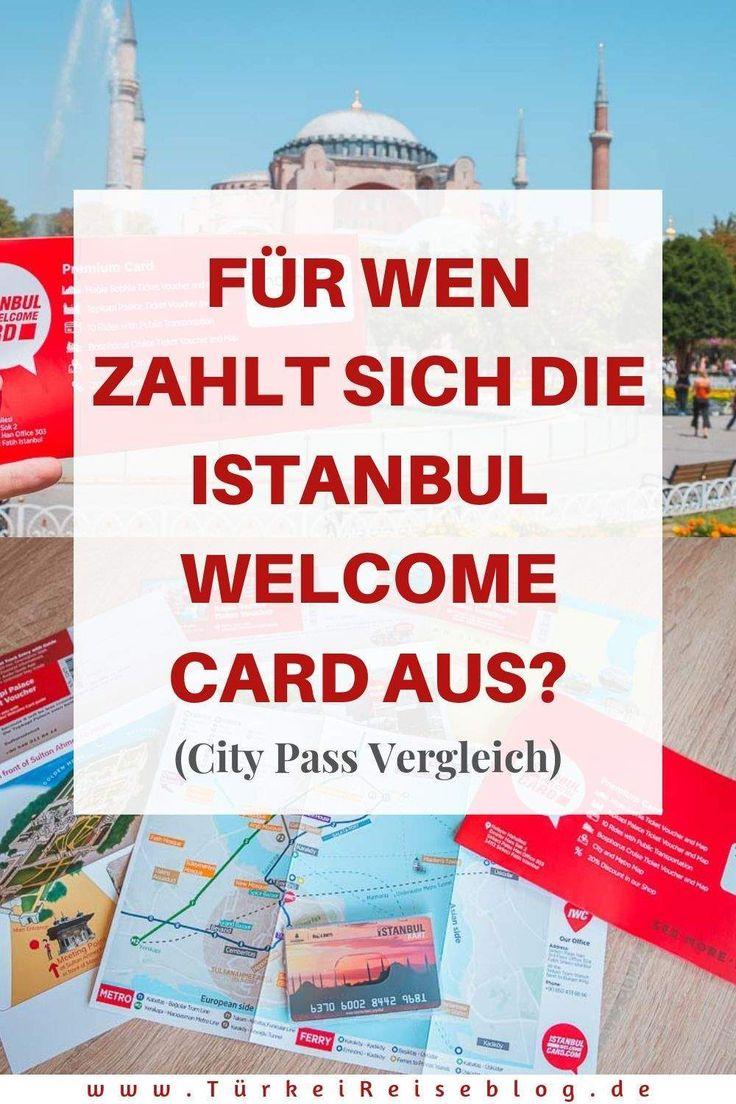 Istanbul Welcome Card: For whom does it pay?