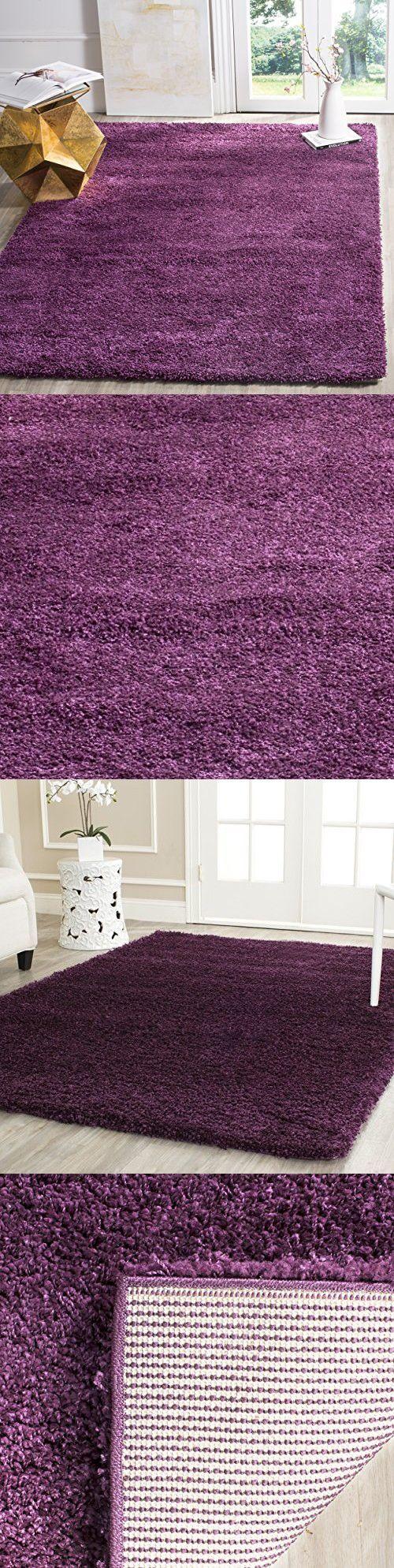 "Safavieh California Shag Collection SG151-7373 Purple Area Rug (5'3"" x 7'6"")"