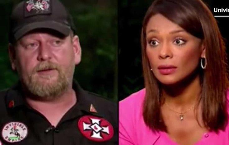 Univision journalist Ilia Calderón interviewed Christopher Barker, a KKK leader in North Carolina, in his home before the violence in Charlottesville.