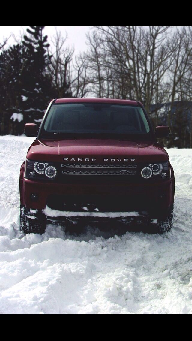 Range Rover ultimate luxury SUV in stunning maroon