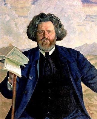 """Boris Kustodiev (1878-1927): """"Maximilian Voloshin"""" - #artisticaMENte - @Libriamo Tutti"""