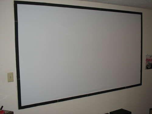 DIY Projector Screen $30-$40!