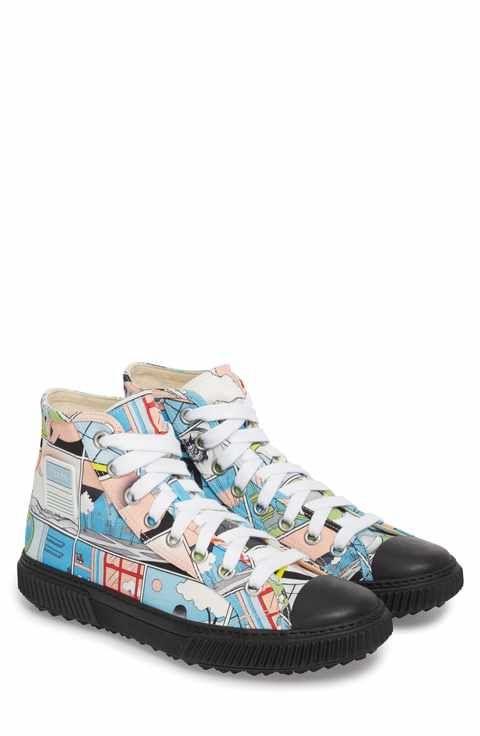 5aaf802bb8ee77 Prada Linea Rossa Comic Print High Top Sneaker (Men)