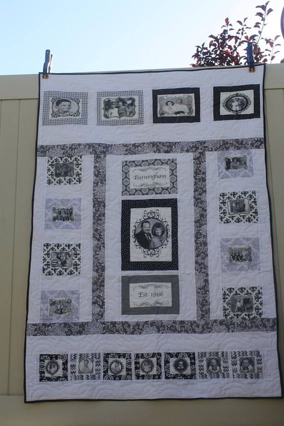 This is a Genealogy Quilt for people that want to give to relatives to show off their big families! This lap size quilt is around 64x65