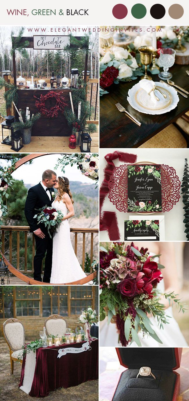 10 Unique Cozy Winter Wedding Colors to Swoon Over ...
