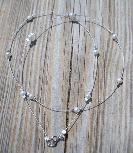 Fresh Water Pearl 925 Sterling Silver Necklace | pavlos - Jewelry on ArtFire