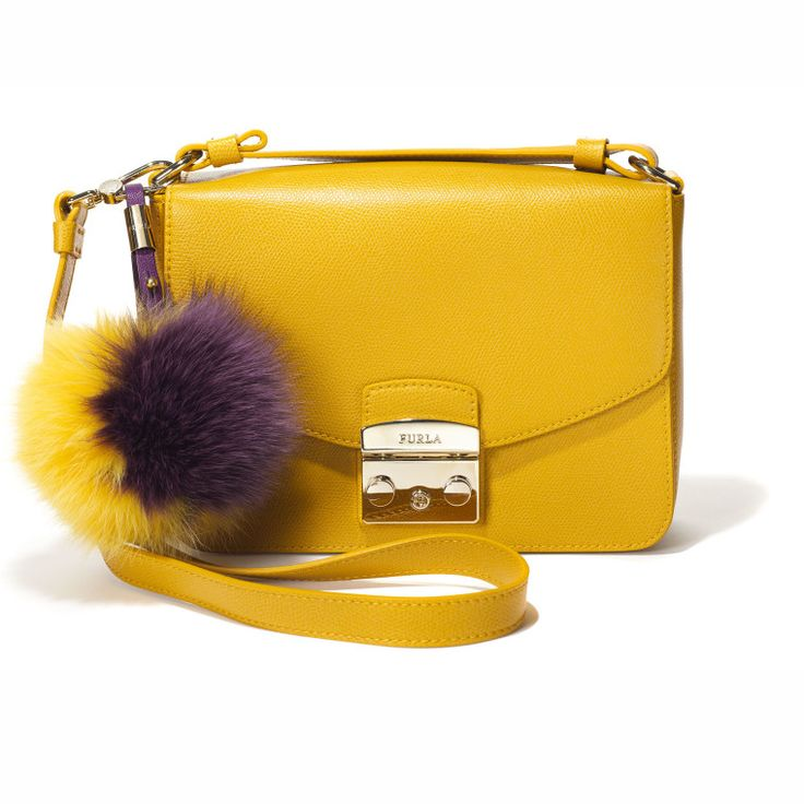 Furla bag, $498, and key chain, $178, furla.com.-Wmag
