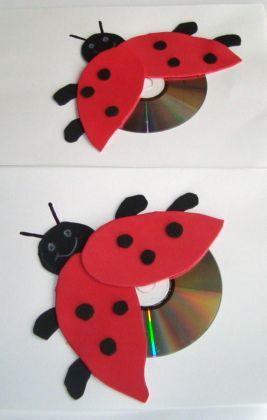 Reciclagem com CD e papel canson